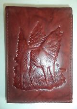 HOWLING WOLF Billfold Wallet, Brown