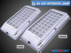 2x Bright White 36 LED Car Van Vehicle Roof Ceiling Interior Light Lamp 12V 2012