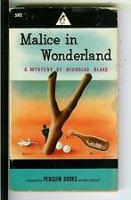 MALICE IN WONDERLAND by Blake, rare US Penguin #592 crime pulp vintage pb