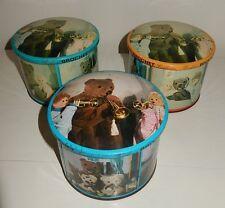 LOt 3 Anciennes boite à bonbons BROCHET en métal BONNE NUIT LES PETITS