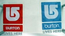 BURTON snowboard 2007 promo LIVES HERE 2sticker set NEW old stock MINT condition