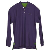 ORVIS Mens Long Sleeve Pique Polo Shirt Size L Tall Purple Embroidered NWOT