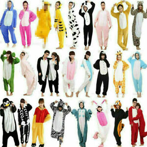 Unisex Adult Animal Onsie8 Onesie19 Anime Cosplay Pyjama Kigurumi Fancy Dress UK