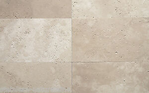 Bodenplatten Travertin Light gebürstet 40,6x61x3 cm Gehweg Antikmarmor Terrasse