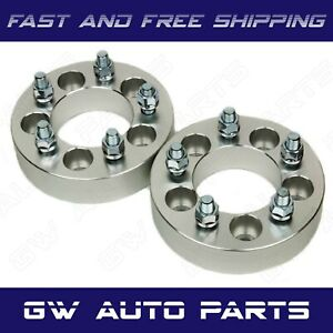 """2 PCs 1.5"""" WHEEL SPACER ADAPTERS 5X135 to 5X5.5 CB 87.1 STUDS 14x2.0 Fit F150"""