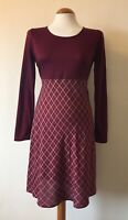 Vintage 90s Clueless Dress Burgundy Jersey Red Checked Short Grunge Style