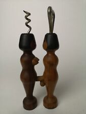 More details for vintage rude bottle opener & corkscrew mid century kitsch man woman man cave bar
