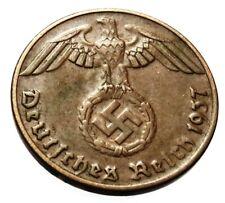 GERMANY WW 2 (Third Reich) original coin 1 Reichspfennig 1937 A