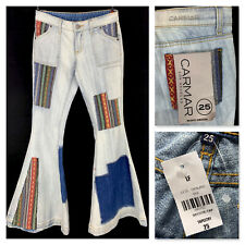 NWT CARMAR Los Angeles Tapestry patchwork flare jeans 25