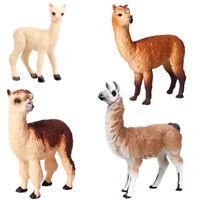Cute Alpaca Grass Mud Horse Figure Animal Model Toys Collector Decor Kid Gift