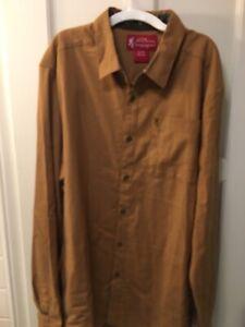 NWT John M Browning $55  RYE Breen Long Sleeve  Button Down Shirt  2XL