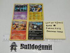 Lot of 4 Furious Fists Rare Pokemon Cards Blaziken Holo Electivire Gothitelle