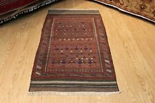 Pré 1900 Tribal Belooch Tapis 3 'X 6' Vintage de Collection Handmdade