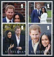 St Helena Royalty Stamps 2018 MNH Prince Harry & Meghan Royal Wedding 4v Set