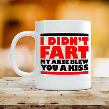 I Didn't Fart Mug Funny Joke Dad Fathers Day Rude 10oz Ceramic Coffee Tea Cup