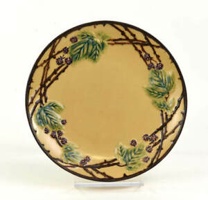 ROSEVILLE POTTERY BLACKBERRY PLATE GEORGE KRAUSE COLLECTION