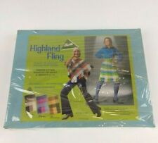 Vtg 70's Bucilla Fashion Kit Knit or crochet Poncho or Skirt # 7763