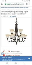 Chandelier Aged Bronze 9 Light Thomas Lighting Free Shipping!