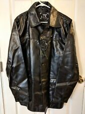 Emporio Armani Collezione Men's Medium Black Faux Leather Jacket NEW NWT Italy