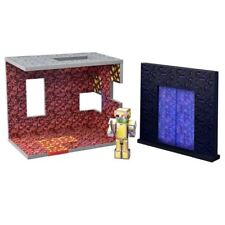 MINECRAFT THE NETHER BIOME ACTION PLAY SET WITH ZOMBIE PIGMAN FIGURE TOY
