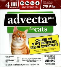 Advecta Plus For Cats Over 9 Lbs 4 Doses New Sealed Usa Seller