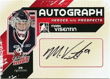 10/11 ITG HEROES & PROSPECTS AUTOGRAPH AUTO MARK VISENTIN ICE DOGS *35184
