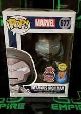 Funko POP HCF 2020 Pop Infamous Iron Man Box# 677 PX Exclusive Vinyl Figure GITD