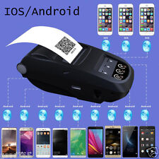 Portable Bluetooth Sans Fil Printer 58mm Thermique pour iPhone Android PC