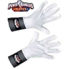 Power Rangers SPD White Ranger Gloves New for Costume Red Blue or Pink Childs