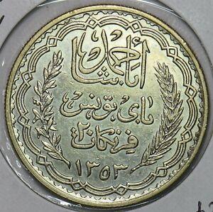 Tunisia 1934 AH1353 20 Francs 491289 combine shipping