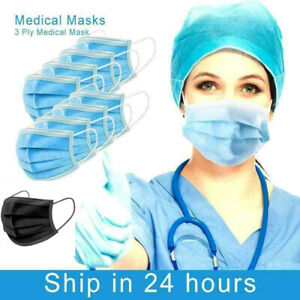Face Mask x 50/10  Protective Covering Mouth Masks UK