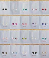 925 Sterling Silver Long Drop Genuine Swarovski Element Heart Crystal Earrings