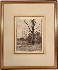 Listed Artist Eliot Candee Clark (1883-1980) Signed Charcoal Landscape Drawing