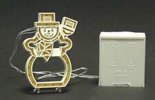 *Dept 56 Sv Village Brite Lights Snowman, Brite Lights Tree, And Adapter - Nib*