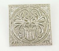 Vintage / Antique Art Deco Sterling Silver Marcasite Brooch