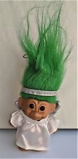 4 ½� Russ Angel Troll Doll with Silver Wings & Halo, Green Hair