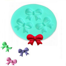 Silicone Cake Mold Bow Knot Design Fondant Mould Cooking Decorating Tools