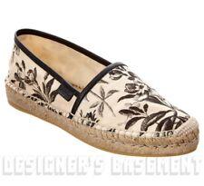 GUCCI ivory & black 42 HERBARIUM print Canvas PILAR Espadrilles shoes NIB Authen