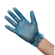 Blue Vinyl  Gloves, PF / Gants Jetables Bleu en Vinyle