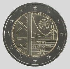 Portugal 2016 - 2 Euro Comm - 50 yrs of the First Tejo River Bridge (UNC)