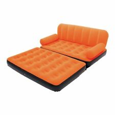 Bestway Multi Max Inflatable Air Couch or Double Bed with AC Air Pump, Orange