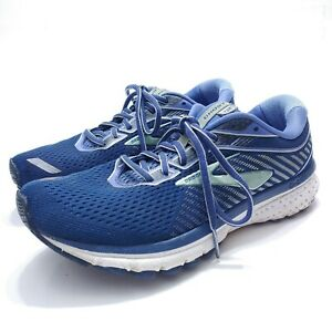 Brooks Ghost 12 Blue Teal Running Shoes Womens Size 8.5 US