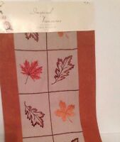 """Inspired Treasures 13"""" by 72"""" Table Runner Fall Harvest Thanksgiving Motif NWT"""