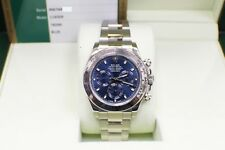 Rolex Daytona Cosmograph 116509 Blue Dial 18K White Gold Box & Papers 2016