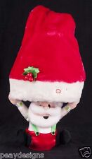 Gemmy Animated Singing Santa Hiding Under Hat Christmas Plush Display SEE VIDEO