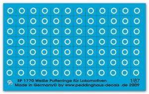 Peddinghaus Decals 1/87 1770 Weiße Pufferringe für Lokomotiven