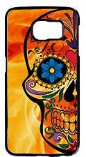 Sugar Skull Skeleton HalloweenCase For Samsung Galaxy&Note Rubber TPU/Hard Cover