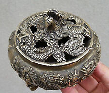 Chinese Favorites Bronze statue dragon Collectibles incense burner /Censer #6566
