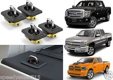 (4) Bull Ring 4001 Retractable Truck Bed Stake Pocket Anchors New Free Shipping