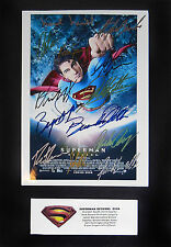 SUPERMAN RETURNS-SIGNED PHOTO POSTER~BRANDON ROUTH~SPACEY~SINGER~BOSWORTH~COA